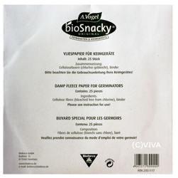 A. Vogel Bioforce BioSnacky Vliespapier für Keimgerät Sprossengarten 25 Stück