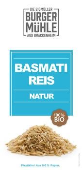 Burgermühle Basmatireis natur 500g