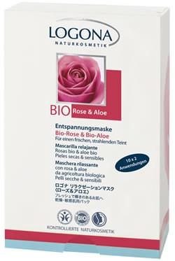 LOGONA Aktiv glättende Feuchtigkeitsmaske Bio-Rose & Kalpariane 2x7,5ml