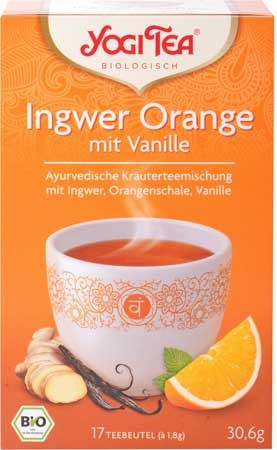 Yogi Tea Ingwer-Orange mit Vanille 17 Beutel