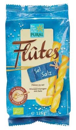 Pural Flutes mit Salz 125g