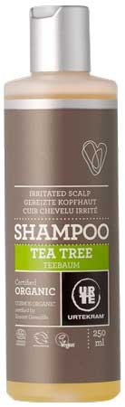 Urtekram Shampoo Teebaum (tea tree, antibakteriell) 250ml