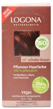 LOGONA Pflanzen-Haarfarbe 091 Henna schoko braun 100g/A