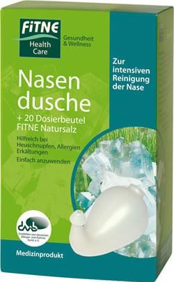 FITNE Nasendusche und 20 Beutel (36g) Nasenspülsalz Set