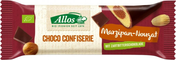 Allos ChocoConfiserie Riegel Marzipan-Nougat 35g