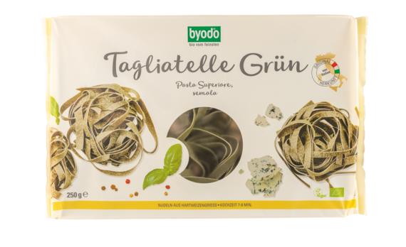 Byodo Tagliatelle grün, semola 250g