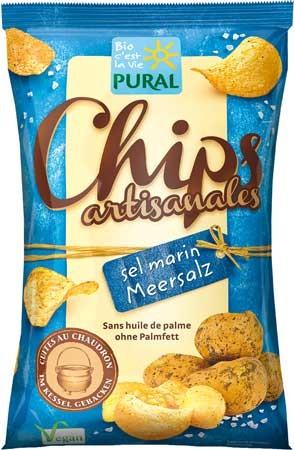 Pural Kartoffelchips mit Meersalz 120g