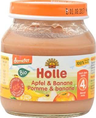 Holle Apfel-Banane pur demeter 125g/A