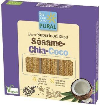 Pural Sesam-Chia-Kokos-Riegel Trio Pack 3x25g