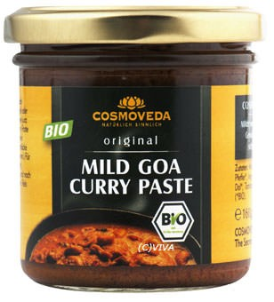 Cosmoveda Mild Goa Curry Paste 160g