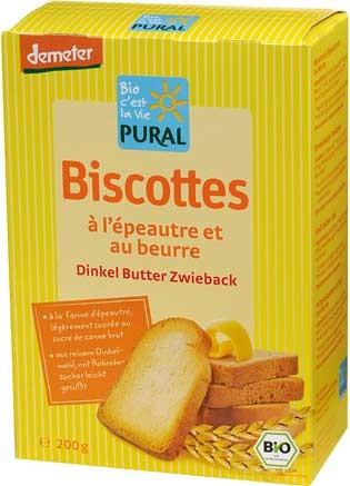 Pural Butter-Dinkel-Zwieback demeter 200g