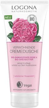 LOGONA Verwöhnende Cremedusche Bio-Demaszener Rose & Bio-Sheabutter 200ml
