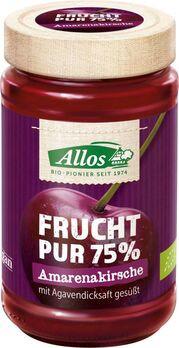 Allos Frucht Pur 75% Aufstrich Amarenakirsche 250g