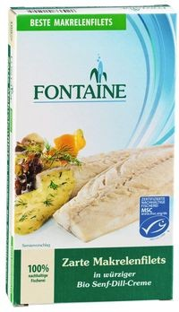 Fontaine Makrelenfilets in Senf-/ Dill-Creme 200g