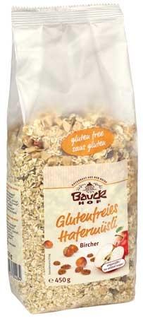 Bauckhof Glutenfreies Hafermüsli Bircher 450g