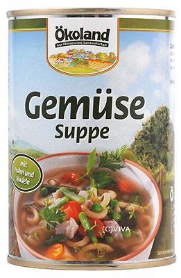 ökoland Gemüsesuppe mit Huhn 400ml