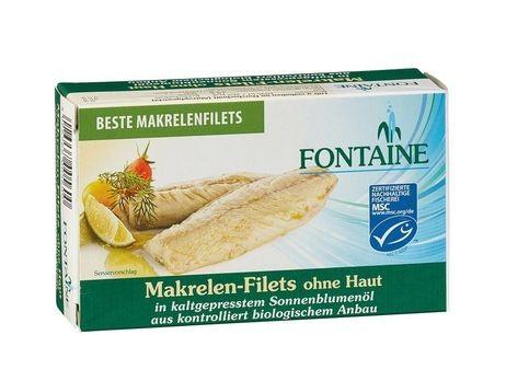 Fontaine Makrelenfilets ohne Haut & Gräten 120g