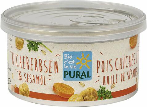 Pural Brotaufstrich Kichererbsen & Sesamöl 125g
