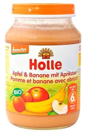 Holle Apfel und Banane mit Aprikose demeter 190g