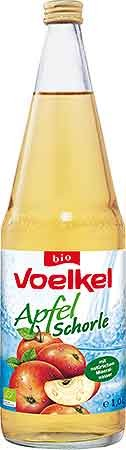 Voelkel Apfel Schorle klar 1,0l + 0,15 EUR Pfand