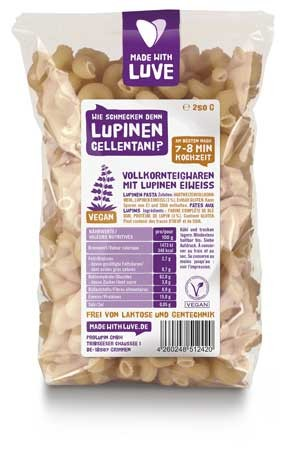 MADE WITH LUVE Lupinen Nudeln Cellentani konventionell 250g