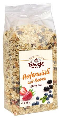 Bauckhof Hafermüsli mit Beeren, glutenfrei 425g