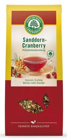 Lebensbaum Sanddorn-Cranberrytee Früchtetee 75g