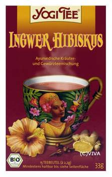Golden Temple Ingwer-Hibiskus ayurvedischer Kräuterte 15 Beutel