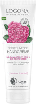 LOGONA Verwöhnende Handcreme Bio-Demaszener Rose & Bio-Sheabutter 75ml