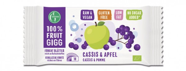 GREENIC Cassis & Apfel 100% Fruit Gigg 10g