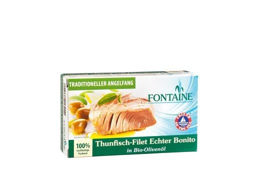 Fontaine Thunfisch-Filet Echter Bonito in Bio-Olivenöl 120g
