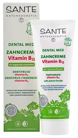 SANTE Dental Med Zahncreme Vitamin B12 mit Fluorid 75ml