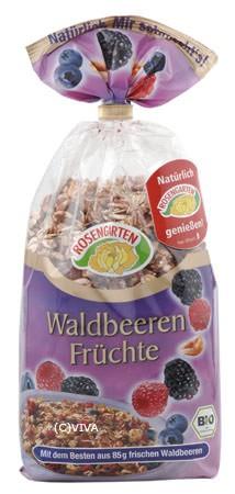 Rosengarten Waldbeeren Früchte Müsli Premium Linie 375g