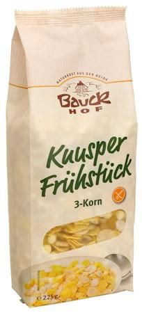 Bauckhof Knusper Frühstück 3-Korn, glutenfrei 225g