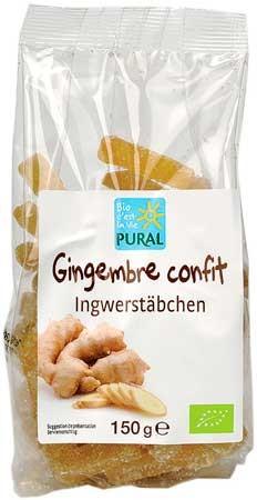 Pural Ingwerstäbchen 150g