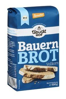 Bauckhof Bauernbrot Vollkorn Backmischung demeter 500g