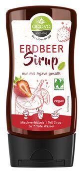 agava Erdbeersirup Spenderflasche 350g