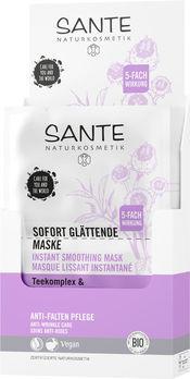 SANTE Sofort glättende Maske Teekomplex & Parakresse 2x4ml