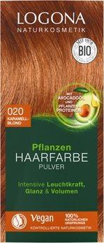 LOGONA Pflanzen-Haarfarbe Pulver 020 karamellblond 100g