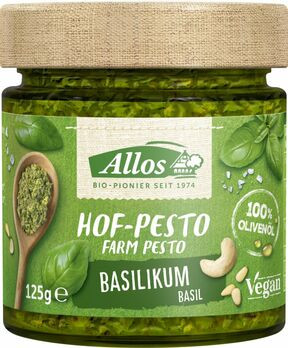 Allos Hof Pesto Basilikum 125g