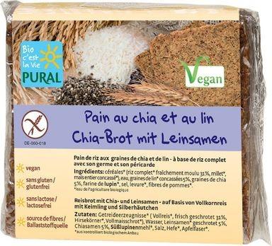 Pural Glutenfreies Chia-Brot mit Leinsamen 375g