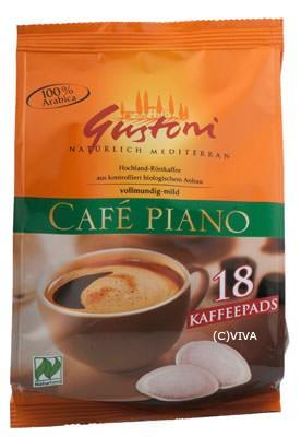 Gustoni Café piano Kaffeepads (18x7g) 126g