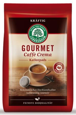 Lebensbaum Gourmet Cafè Crema, kräftig, Pads 126g