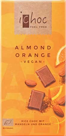 Vivani iChoc Almond Orange 80g
