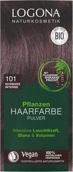 LOGONA Pflanzen-Haarfarbe Pulver 101 schwarz intense 100g