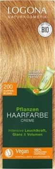LOGONA Pflanzen-Haarfarbe Creme 200 kupferblond 150ml