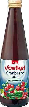 Voelkel Cranberry pur 0,33l + 0,15 EUR Pfand