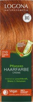 LOGONA Pflanzen-Haarfarbe Creme 210 kupferrot 150ml