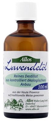 Allos Lavandinöl, Lavendelöl Bio 100ml