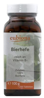 Eubiona Bierhefe-Tabletten 100g